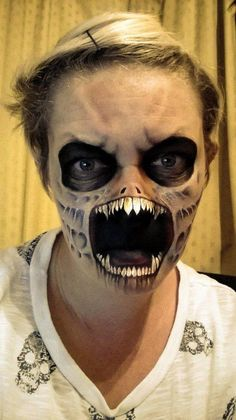 Mother Uses Face Paint To Transform Herself Into Living Nightmares