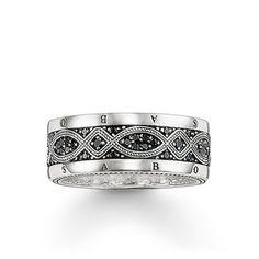 813756154a9 THOMAS SABO Rebel at heart Sterling Silver Ring