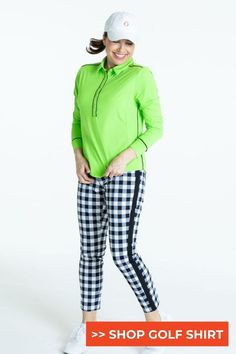 Are you looking for a new top that looks great before, during and after golf? Look no further then our newest longsleeve KINONA longsleeve top. This top boasts UPF 50+ sun protection for function combined with great color, pattern and styling to wear throughout the day. Our soft Italian fabric with 4 way stretch moves with you, doesn't wrinkle and is easy to care for. #golf #golfgirls #womenoncourse #womenwithdrive #womeninsport #athleisure #femaleathletes