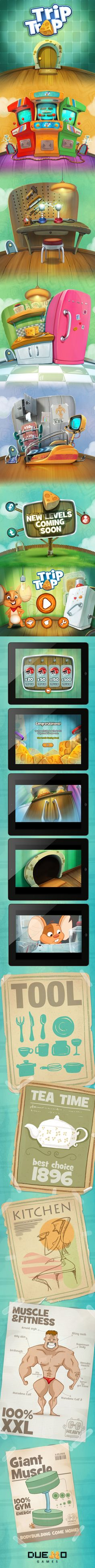"""TripTrap""  iphone/ipad game by Burç Pulathaneli, via Behance"