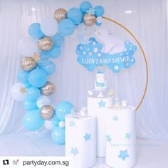 Sweet dream polar bear #Repost @partyday.com.sg (@get_repost) ・・・ Elson's Baby shower 👶🏻 Balloon & setup: @partyday.com.sg Cake & Dessert: @baker.yin . . . . . #sgpartyday #sgballoons #balloonsg #sgevent #sgevents #sgparty #partysuppliessg #sgbirthdayparty #partysupplies #sgbake #desserttable #desserttablesg #sgdesse Teddy Bear Baby Shower, Baby Shower Niño, Baby Shower Balloons, Baptism Centerpieces, Candy House, Diy Birthday Decorations, Samara, Dessert Table, Polar Bear