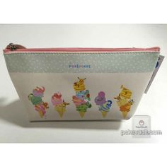 Pokemon Center 2015 Pokemikke Campaign #2 Eevee Charmander Ditto Bulbasaur & Friends Soft Pen Pouch Bag