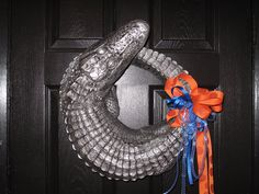 Gator wreath/centerpiece. via Etsy.