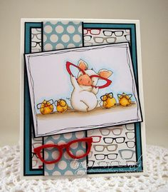 """""""nice to see you Petunia"""" card by Tracy MacDonald.... this Stamping Bella pig series (Petunia) is too cute!"""