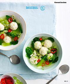 Suppe mit Ingwer Hähnchen Schlank gekocht Olive 0316