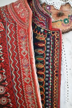 Lachy Sadeckie Closeup of traditional costume of Lachy Sądeckie, southern Poland. Polish Embroidery, Local Embroidery, Folk Embroidery, Embroidery Fashion, Embroidery Designs, Polish Folk Art, Folk Clothing, Festival Dress, Textiles