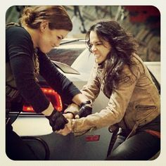 Michelle Rodriguez and Gina Carano - Fast and Furious 6
