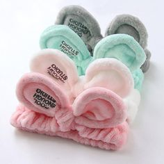 New Fashion Women Cute Big Ears Comfortable Wash Face Bathe Hair Holder Elastic Headband Girls Hairbands Hair Accessories Cute Headbands, Elastic Headbands, Hair Band For Girl, Headband Pattern, Hair Accessories For Women, Bandeau, Types Of Fashion Styles, Crystal Earrings, Cool Things To Buy