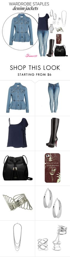 """""""Wardrobe Staple: Denim Jackets"""" by princess976 on Polyvore featuring Fendi, True Religion, RED Valentino, Christian Louboutin, Kate Spade, Casetify, GUESS, Robert Lee Morris, Charlotte Russe and Michael Kors"""