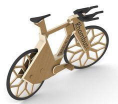 Wooden Bicycle, Wood Bike, Wood Kids Toys, Wood Toys, Push Bikes, Twisted Metal, Bike Style, Bicycle Design, Cool Bicycles