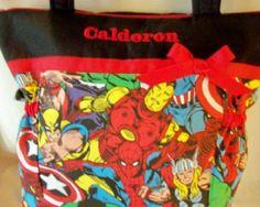 Marvel Super Hero handmade duffle diaper bag or by designsbykeri4u, $55.99
