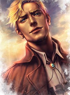 """varrix: """" """" Look in his eyes for a dying flare Look for the wind in his yellow hair And pretend You see the man Who isn't there """" print """" Attack On Titan Fanart, Attack On Titan Ships, Attack On Titan Anime, Glee, Levi And Erwin, Eruri, Hot Anime Guys, Levi Ackerman, Armin"""