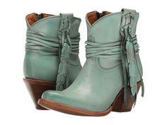Lucchese robin turquoise short cowboy boots