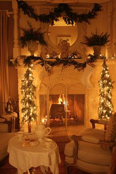 Very Romantic White with a touch of Christmas Greens