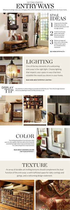 Decorate your entryway with style and function! Entryway Decorating Ideas & Entryway Design Ideas via Pottery Barn Pottery Barn, Interior Design Tips, Interior Decorating, Decorating Ideas, Design Ideas, Hallway Decorating, Entryway Furniture, Entryway Decor, Entryway Ideas