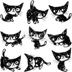 일본의 고양이 캐릭터  graphic  kitty 및 hello kitty