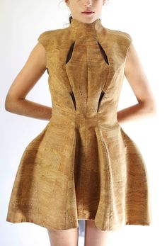 #Cork dress by Megan Taljaard | #sustainable #fashion