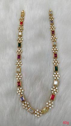 Zirkonia Verlobungsringe Set in Sterling Silber Gold Jewellery Design, Gold Jewelry, Beaded Jewelry, Bridal Jewelry Pearls, Indian Gold Jewellery, India Jewelry, Flower Jewelry, Jewelry Sets, Jewelry Necklaces