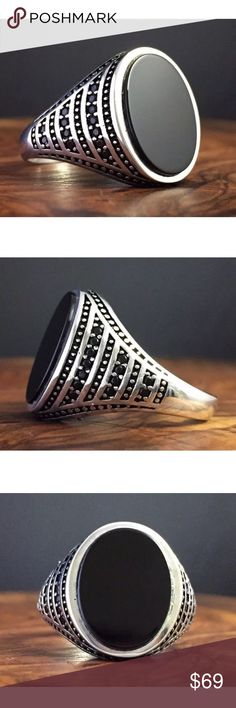 1HOUR SALEVINTAGE 925SILVER ONYX MEN RING 10.5 100% SATISFY 100% TOP SERVICE   VERY HOT DEAL!  NEW SELLER BUT BEST SELLER! WOW 2PCS FREE GIFT! IF YOU LIKE ANY ITEMS; MAKE AN OFFER. DON'T MISS BCZ OF PRICE! I WILL HANDLE THE REST :))  TURKISH VINTAGE 925K SILVER ONYX MEN RING 10.5  %100 HANMADE MADE IN TURKEY  SIZE: 10.5 HEAD SIZE: 19&17 MM 8 GRAMS COLOR: BLACK/SILVER STONE: ONYX METAL: 925 STERLING SILVER  Package Included: 1 x Ring +Velvet box+ Nano Microfiber Cleaning Cloth  ($19.99 VALUE)…
