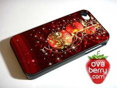 Red Christmas Ornaments iPhone and Samsung Galaxy Phone Case