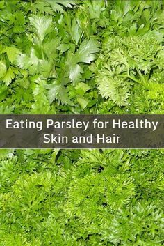 Fresh parsley is a simple and nutritious food to add to a variety of meals such as salads, soups, pesto, pasta and rice dishes, stir fries and sandwiches. Eating parsley is also a great way to get many of the important nutrients for healthy skin and hair