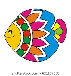 Similar Images, Stock Photos & Vectors of Indian Folk Painting- Madhubani Painting of a fish - 621158105 Art Drawings For Kids, Art Drawings Sketches Simple, Easy Drawings, Madhubani Art, Madhubani Painting, Indian Art Paintings, Paintings Of Fish, Tribal Art, Geometric Art