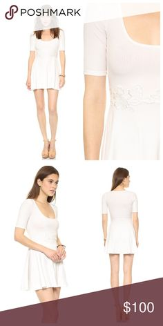 ƒ๏я ℓ๏√э ลи∂ ℓэм๏иร •• lyla dress ꊛ for love and lemons  ꊛ small ꊛ perfect condition  ☾a delicate floral appliqué accents the waist on a flirty, ribbed-knit dress. banding trims the deep scoop neckline, and a flounced skirt offers playful movement.   ꊛ × no paypal × no trades × be kind, have fun & stay lovely ო  メℴ メℴ For Love and Lemons Dresses Mini
