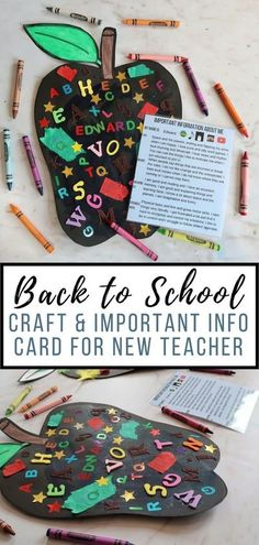 Back to School Craft with All About Me Card - Someone's Mum
