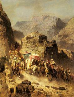 An Arab Caravan by Alberto Pasini