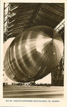 The Hindenburg entering the shed at Rio via Todd Neitring