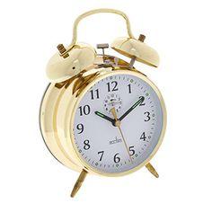 Gold-Tone Keywound Alarm Clock