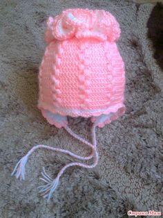 Pink Ruffle Top Hat free crochet graph pattern