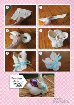Flannel Easter Bunnies How to #Craft #Easter #bunnies
