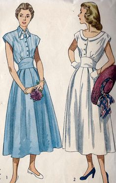 1940s Misses Day Dress Vintage Sewing Pattern by MissBettysAttic, $19.00