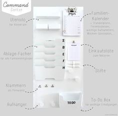 {DIY} Mehr Durchblick und Ordnung mit dem Familien Command-Center {DIY} More clarity and order with the Family Command Center – Emma Bee Diy Organisation, School Organization, Universidad Ideas, Diy Home Crafts, Diy Home Decor, Family Command Center, Command Centers, Ideas Hogar, Diy Décoration