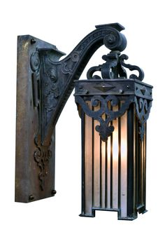 Bronze Victorian Sconce with Leaded Glass Shade Gothic Bathroom, Bathroom Sconces, Glass Bathroom, Leaded Glass, Stained Glass, Front Door Lighting, Architectural Antiques, Glass Wall Art, Glass Boxes