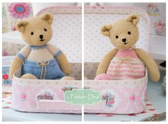 Girl and Boy bear knitting patterns from Mary Jane's TEAROOM.......                                                                                                                                                      More
