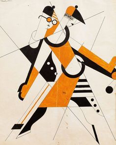 Anatol Petrytsky, Dance costume sketches for Eccentric Dances, 1922.
