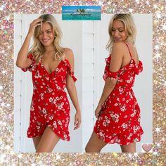 Summer Dress | Woman's Spring Summer Mini Dress-Red  *Ships Free