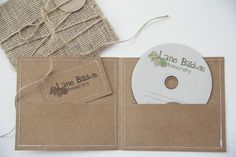 Burlap Photography Packaging ... I like the stitching and I have a boatload of burlap that I need to use for something