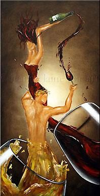 Tempranillo is a variety of black grape widely grown to make full-bodied red wines in its native Spain. Enjoy this stunning Tempranillo Wine Painting from Leanne Laine Art Chicano, Art Aquarelle, Wine Painting, Woman Wine, Wine Art, Art Sculpture, Art Original, In Vino Veritas, Wine Time