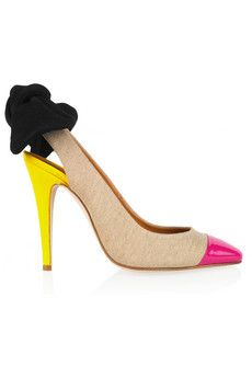Carven Slingbacks  I love odd color combinations...makes an outfit interesting...