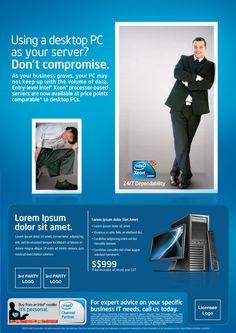 Intel Ad - server [Concept and Copywriting]