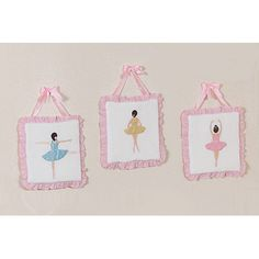 3 Piece Ballerina Collection Wall Hanging Set