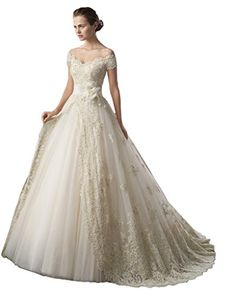PinRro Off the Shoulder Lace Wedding Dresses A-line Brida... https://www.amazon.com/dp/B01BVFHPXW/ref=cm_sw_r_pi_dp_x_s7.3xbZZWV66W