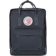 FJALLRAVEN Kånken backpack (68.980 CLP) ❤ liked on Polyvore featuring bags, backpacks, accessories, graphite, backpacks bags, daypacks, zip backpack, shoulder strap backpack and fjällräven