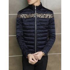 Clothes Type: Down & Parkas  Material: Polyester, Cotton  Collar: Mandarin Collar  Clothing Length: Short  Style: Fashion  Weight: 1.3KG  Sleeve Length: Long Sleeves  Season: Winter  Package Contents: 1 x Coat  SizeBustLengthShoulder WidthSleeve Length L100634262 XL1046443...