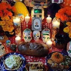 Candles are used to light the way for the spirits to the altar. You can also use wreaths, flowers, and crosses.