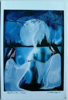 $6.99  Native Fine ART Card Blank September Moon BY Wabimeguil Betty Albert Lincez   eBay #holiday #stationary #greetingcard