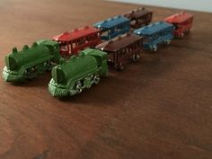 Rare Mini Toy Trains (2 sets of 4 pieces) by TheFarmFindsShop on Etsy